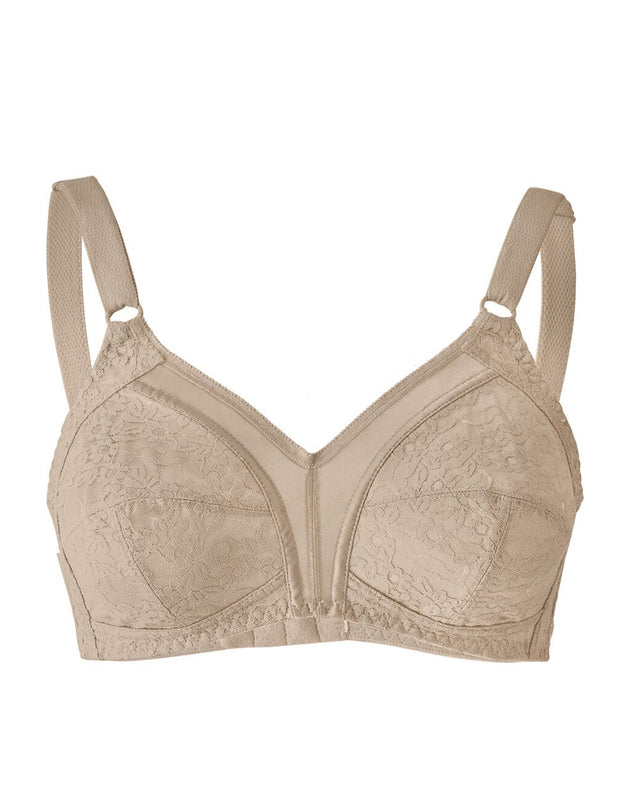 Leonisa Full Coverage Bra in Lace with Smooth Control- Skin