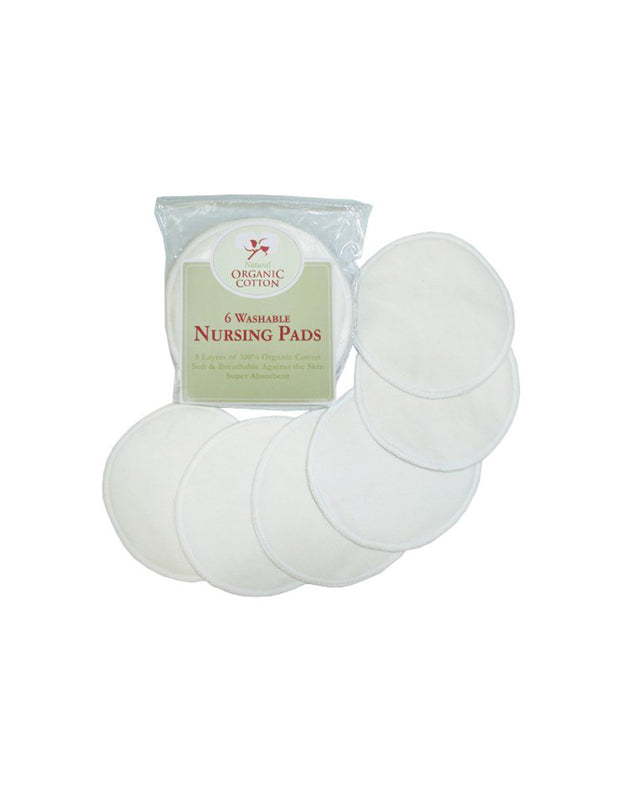Organic Cotton Nursing Pads made with Organic Cotton- 3 pairs