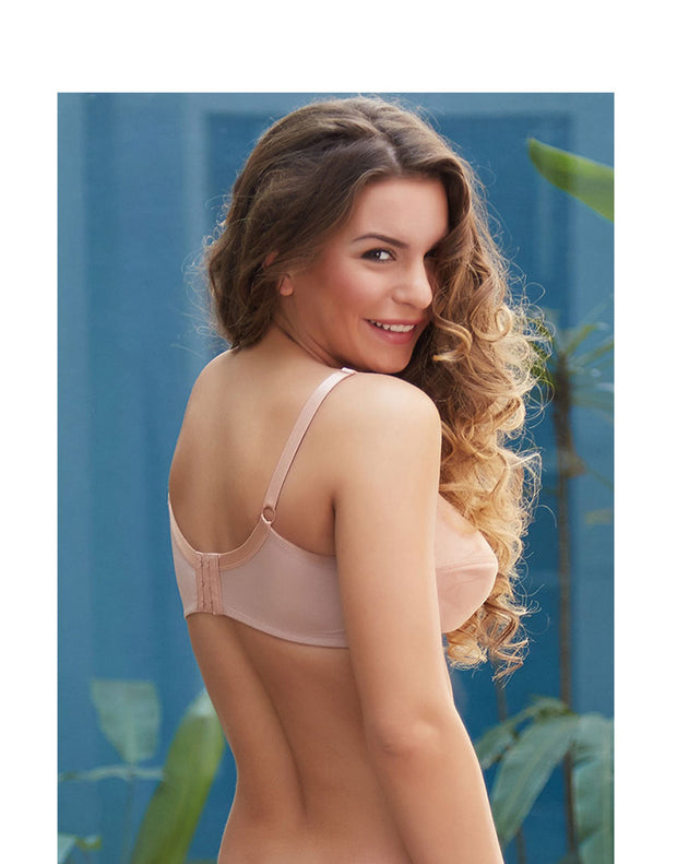 Quattro Minimizer Full Coverage Non Stretch Jacquard Bra