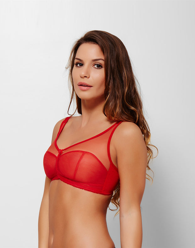 Curvy Wirefree Sheer for Summer Fabulous Support Bra