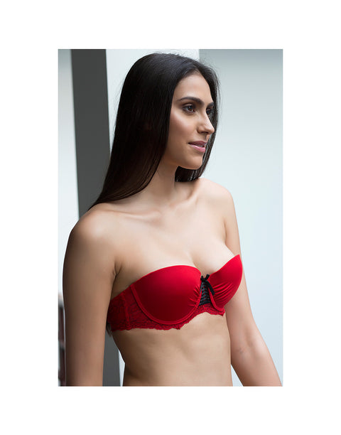 Smooth Demi Coverage Gentle Pushup Strapless Bra