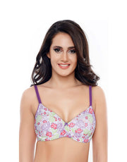 CouCou Cotton Blossom Belle Padded 3/4th Coverage Underwired Bra