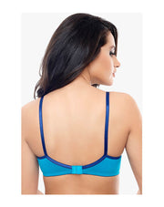 Coucou Comfort Cup Lightly Padded Wirefree Bra-Sky Blue