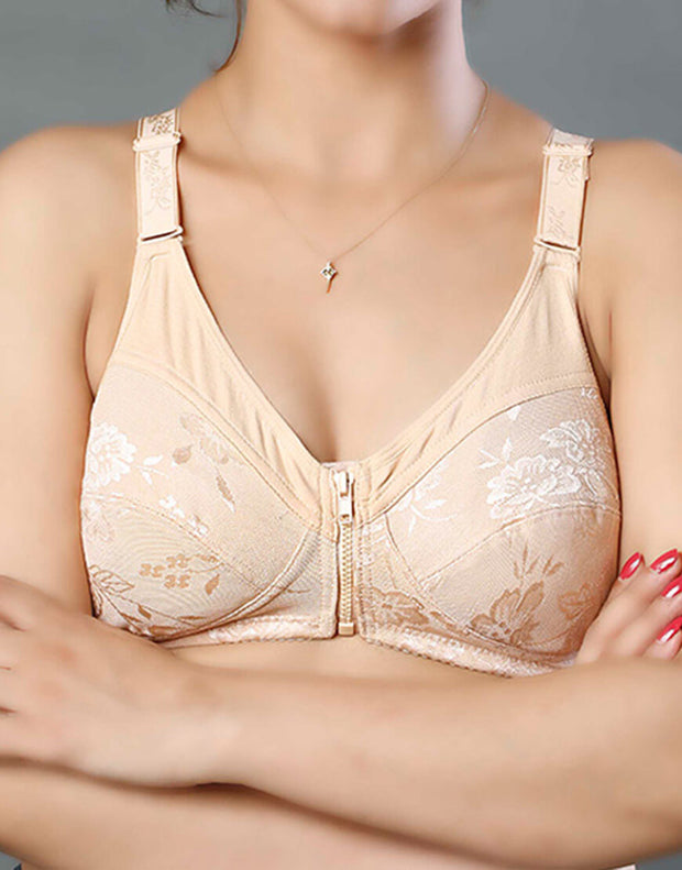 Post Surgical Bra With Front Zip