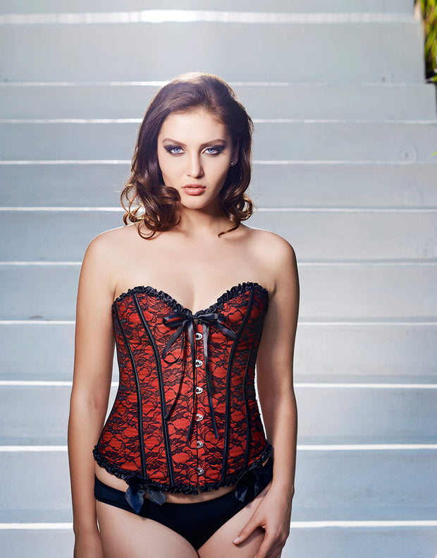 Penny Lace Corset with Ruffles