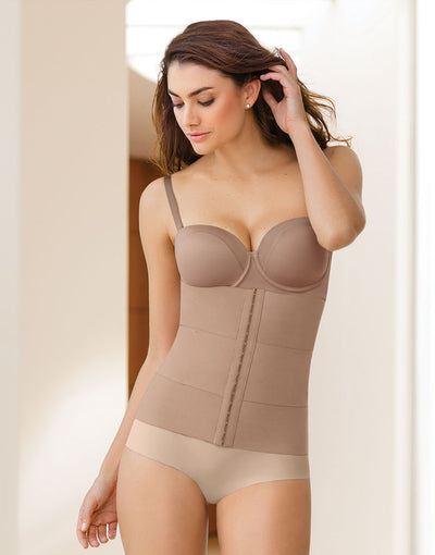 LEONISA WAIST CINCHER WITH LUMBAR SUPPORT & ANATOMICAL COMPRESSION BANDS