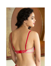Satin Brides Underwired Balconette Neckline Bra