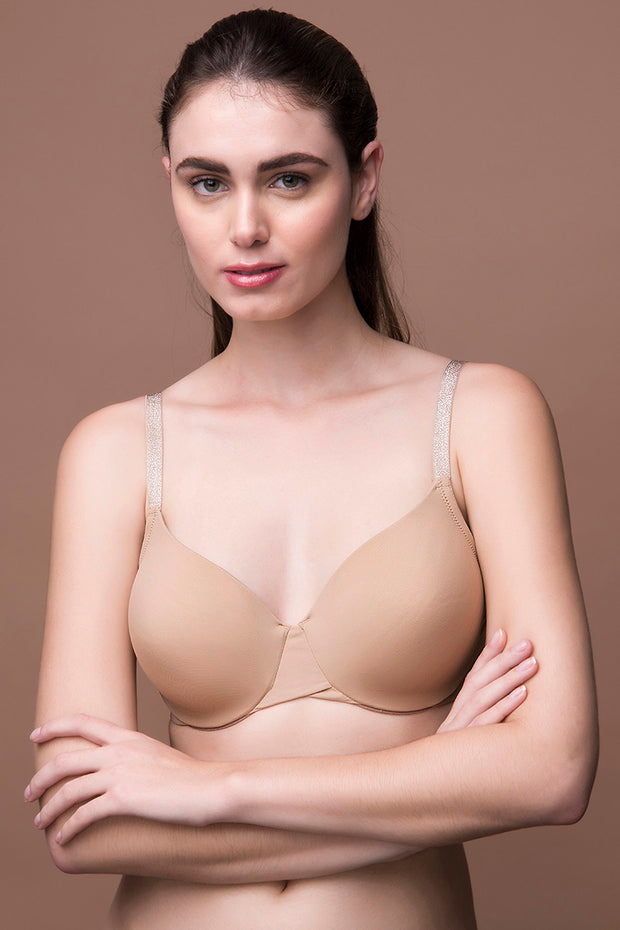 Glitter Straps Radiance Smooth Padded Wired T-Shirt Bra