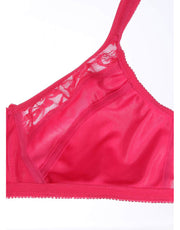 Penny Quattro Lift High Coverage Wirefree Bra with Cushioned Straps-Bright Rose