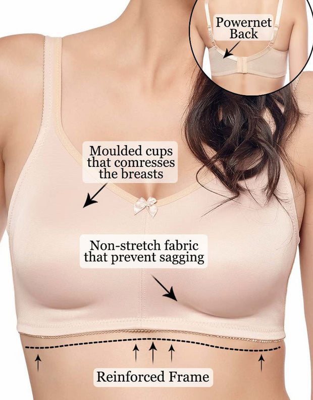 Penny Quattro Minimiser Wire-free Full Coverage Ultimate Minimising Bra