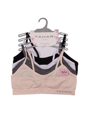 TAHARI GIRLS PACK OF 4 TRAINING BRAS PEARL