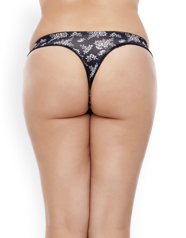 Penny Ultra Soft Lace Kissed Thong (Pack of 3)