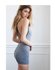 Bunny Bottom Basic Bodysuit-Grey