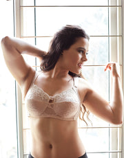Penny Quattro Lift Full Coverage Wirefree Bra With Cushioned Straps and Side Shaper Slings-Skin
