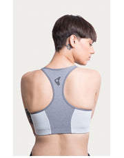 High Impact Front Open Sports Bra - Grey