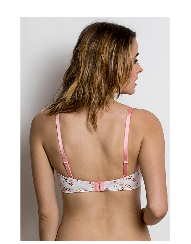 Lightly Padded Wirefree T-Shirt Bra -White & Print