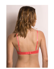 Color Struck Padded T-Shirt Bra-Coral