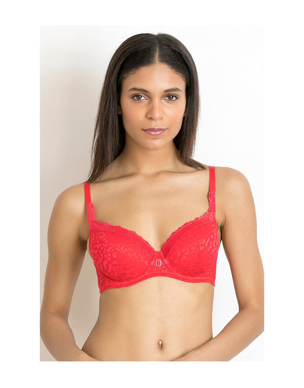 LOSHA LUXE LACE DOUBLE LAYERED WIRED BRA-BITTERS SWEET
