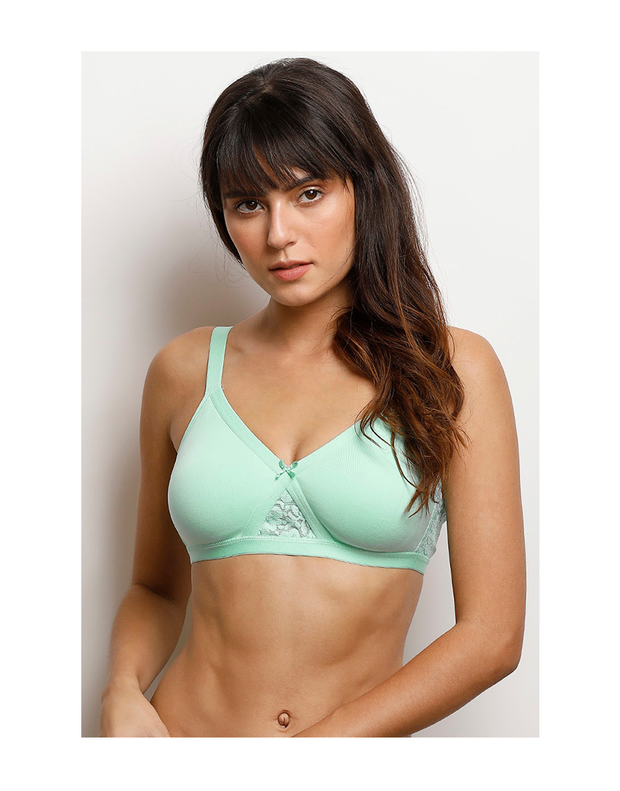 Wirefree Super Support Bra-Aruba Blue