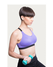 Medium Impact Slip On Sports Bra - Purple