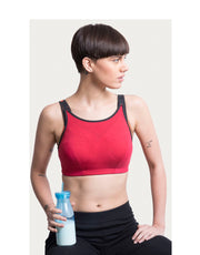 High Impact Dual Layered Sports Bra - Red