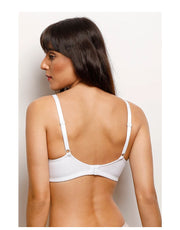 Losha Cotton Double Layered Wire-free Bra- White