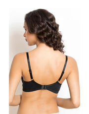 Losha Cotton Wire free Cut N Sew Bra- Black