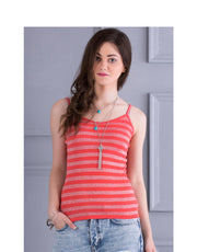 Summer Shimmer Spaghetti Top-Pink