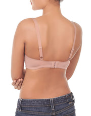 Losha Lightly Padded Wirefree T-Shirt Bra-ROEBUCK SKIN