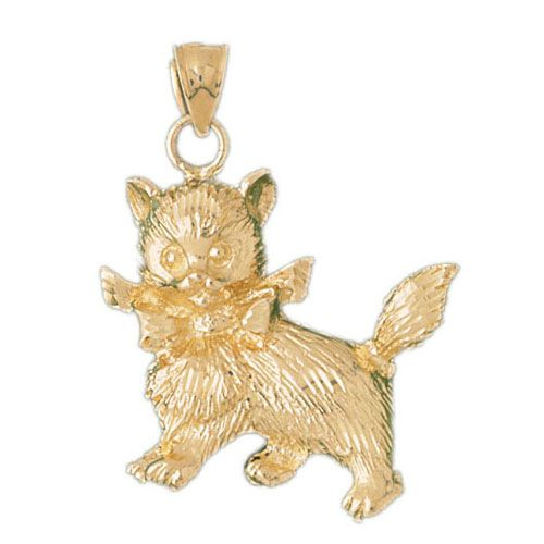 Dog Charm Pendant 14k Gold