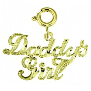 Daddys Girl Charm Pendant 14k Gold