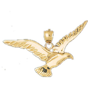 Bird Charm Pendant 14k Gold