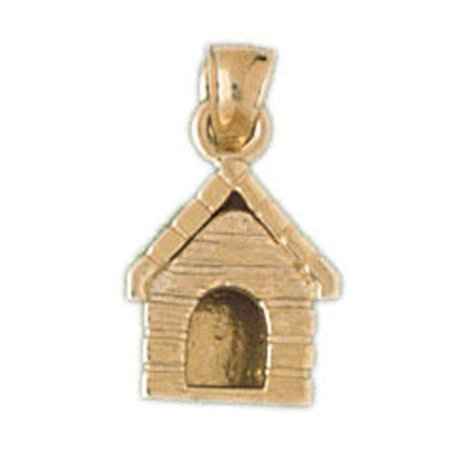 Dog House Charm Pendant 14k Gold