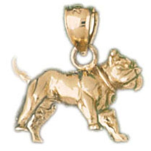French Bulldog Dog Charm Pendant 14k Gold