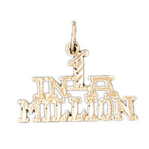 One In A Million Charm Pendant 14k Gold