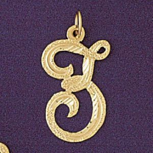 Initial Z Classic Charm Pendant 14k Gold