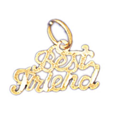 Best Friend Charm Pendant 14k Gold