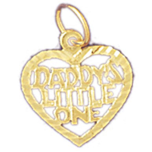 Daddy's Little One Charm Pendant 14k Gold