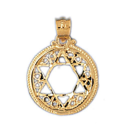 Star of David Charm Pendant 14k Gold