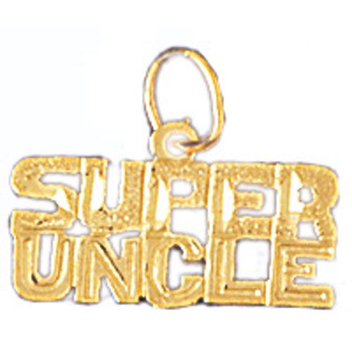 Super Uncle Charm Pendant 14k Gold