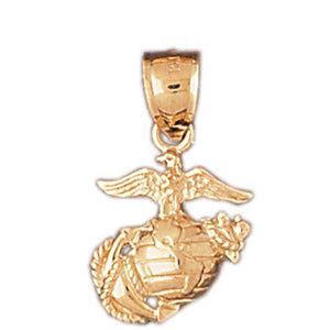 Us Navy Sign Charm Pendant 14k Gold