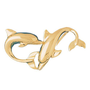 Dolphin Charm Pendant 14k Gold