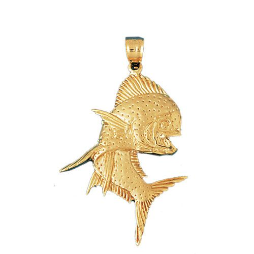 Fish Charm Pendant 14k Gold