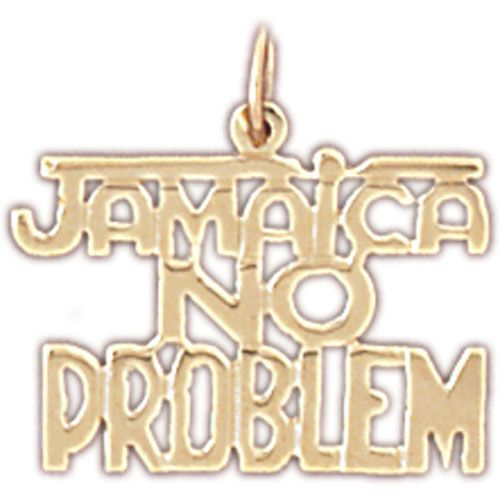 Jamaica No Problem Charm Pendant 14k Gold