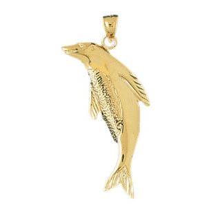 Sea Lion Seal Charm Pendant 14k Gold