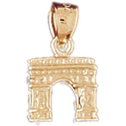 3D Arch Italy Charm Pendant 14k Gold