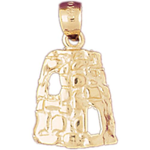Travel Attraction Charm Pendant 14k Gold