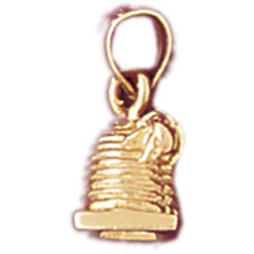 3D Travel Attraction Charm Pendant 14k Gold