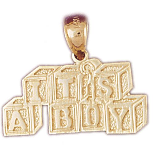 Its A Boy Charm Pendant 14k Gold