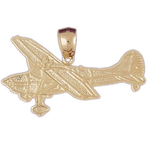 Airplane Charm Pendant 14k Gold